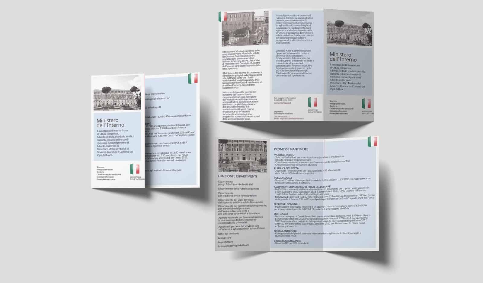 Ministero dell' Interno – Brochure Trifold